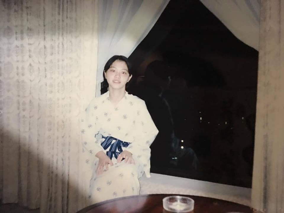 高嘉瑜充滿「仙氣」的浴衣照。 圖/擷取自高嘉瑜臉書粉絲專頁