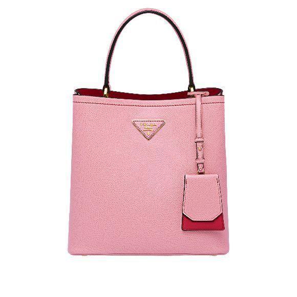 New Double粉色手提肩背包,64,000元。圖/PRADA提供