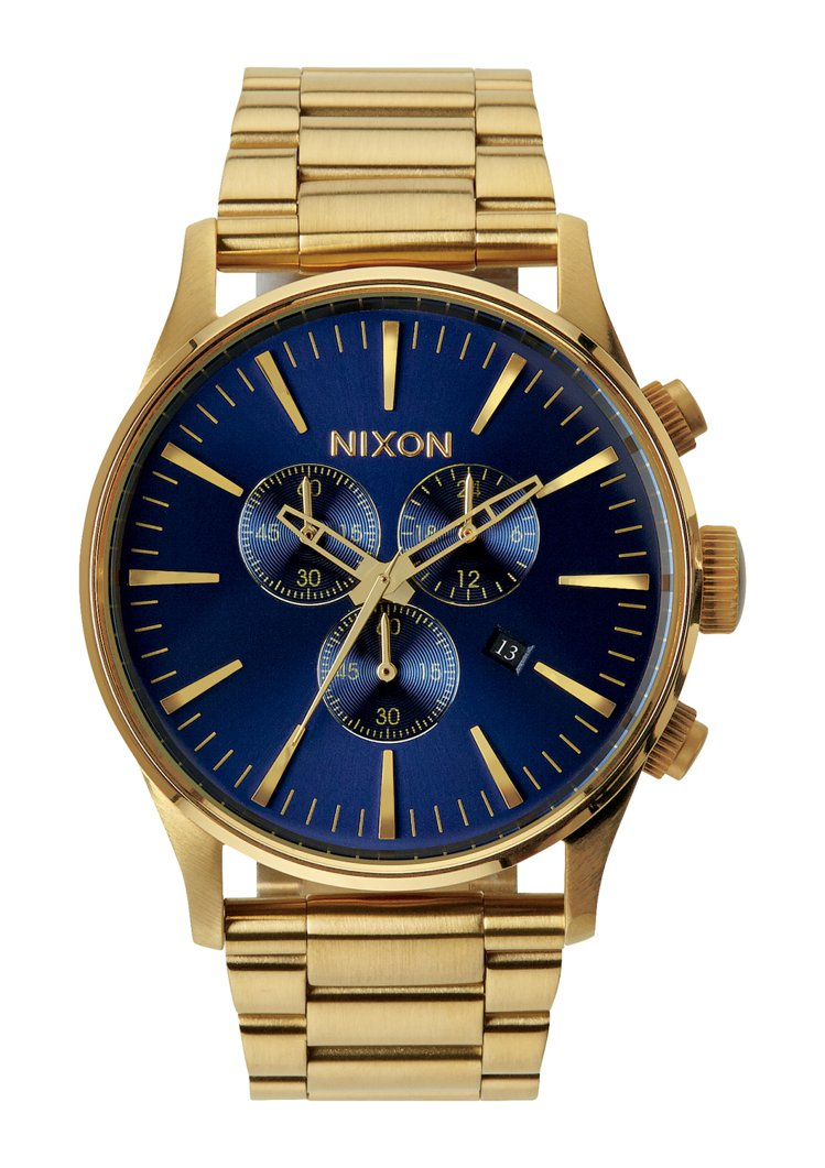 Nixon Sentry Chrono為計時碼表15,900元。圖/麥迪威提供