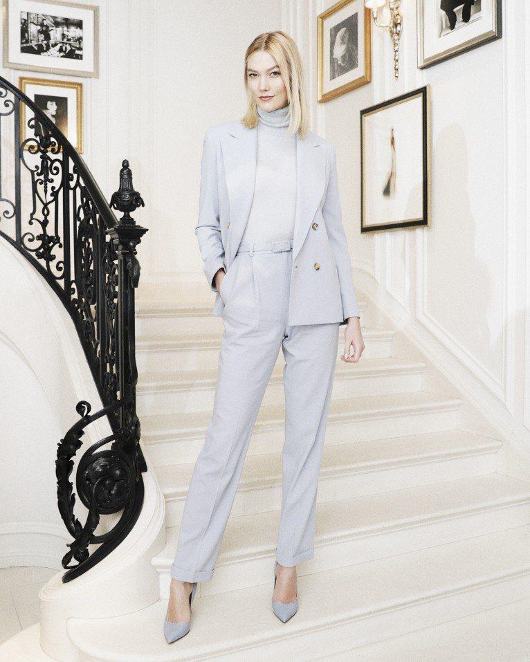 超模卡莉克勞斯運用Ralph Lauren Collection 2019早春粉...