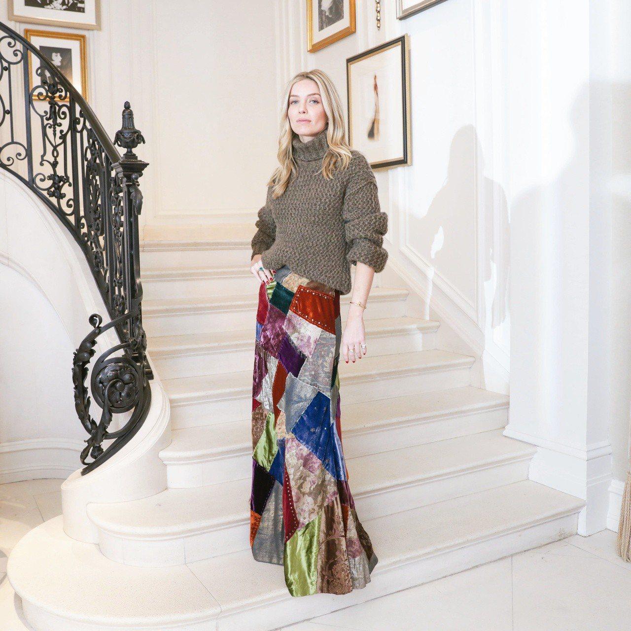 演員安娜貝爾華麗絲身上的Ralph Lauren Collection 2018...