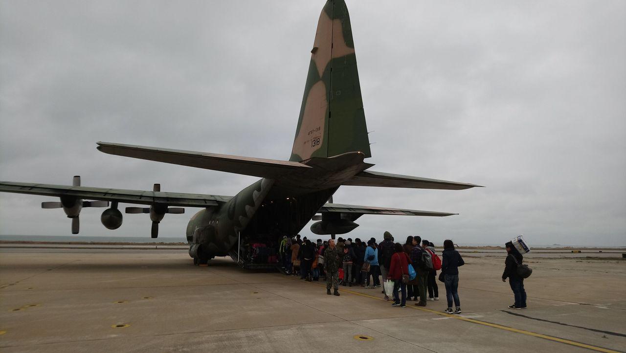 民航局今天下午啟動三波軍機協助春節疏運。圖/民航局提供