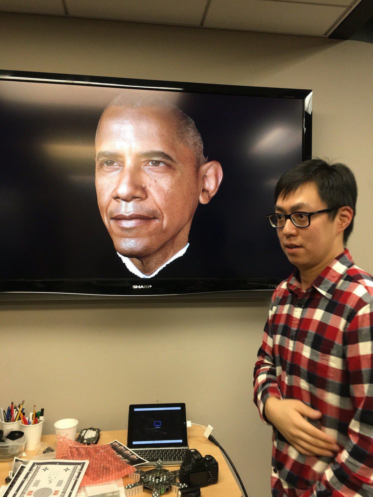 美國前總統歐巴馬的白宮畢業照,也是運用馬萬鈞的臉部捕捉技術拍照。圖/文化部提供