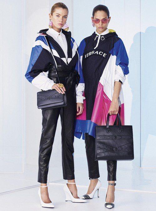 Versace 2019早春女裝搭配Tribute X 系列包款。圖/Versa...