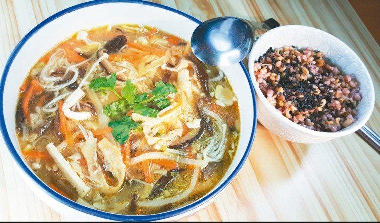 素食豆腐酸辣湯(4人份)