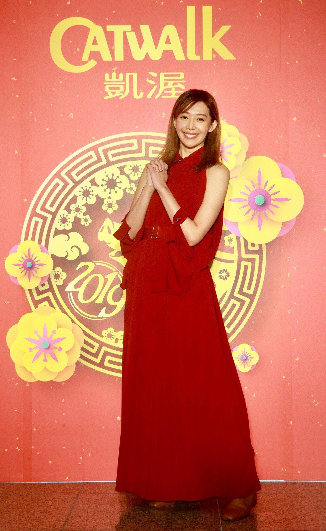 凱渥新春大年初六舉行2019開春團拜,名模王心恬。記者黃義書/攝影