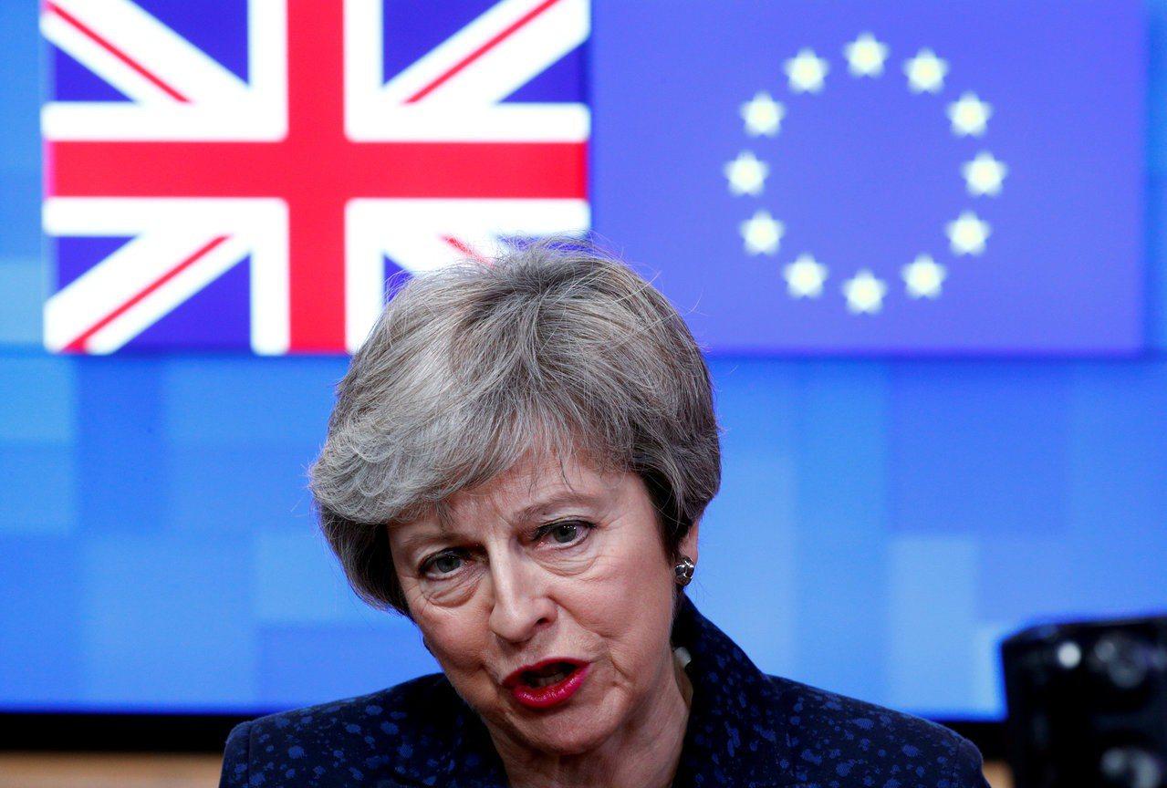 英國首相梅伊。 路透社