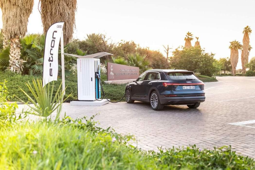 全球各大豪華品牌也在近年陸續開發電動車。 摘自Audi