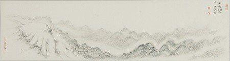 蔣勳畫作〈天長地久〉 (谷公館提供)