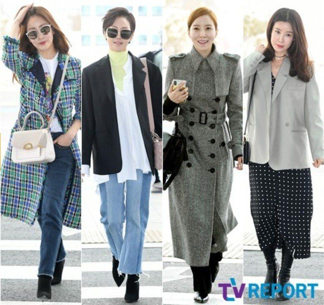 四位媽媽私服各有氣場。圖/摘自TVREPORT