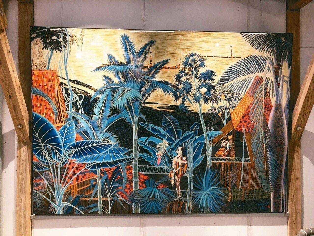 丁紹光的「流沙河」作品,號稱市價逾6千萬元。 圖/彝璋文創提供