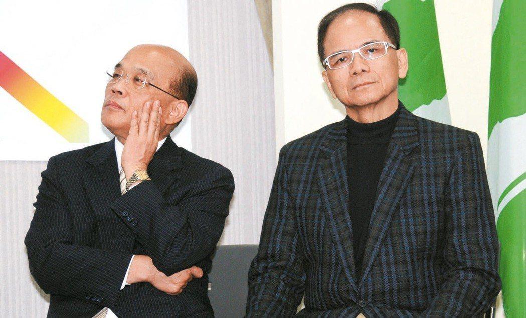 蘇貞昌(左)與游錫堃。 圖/聯合報系資料照片