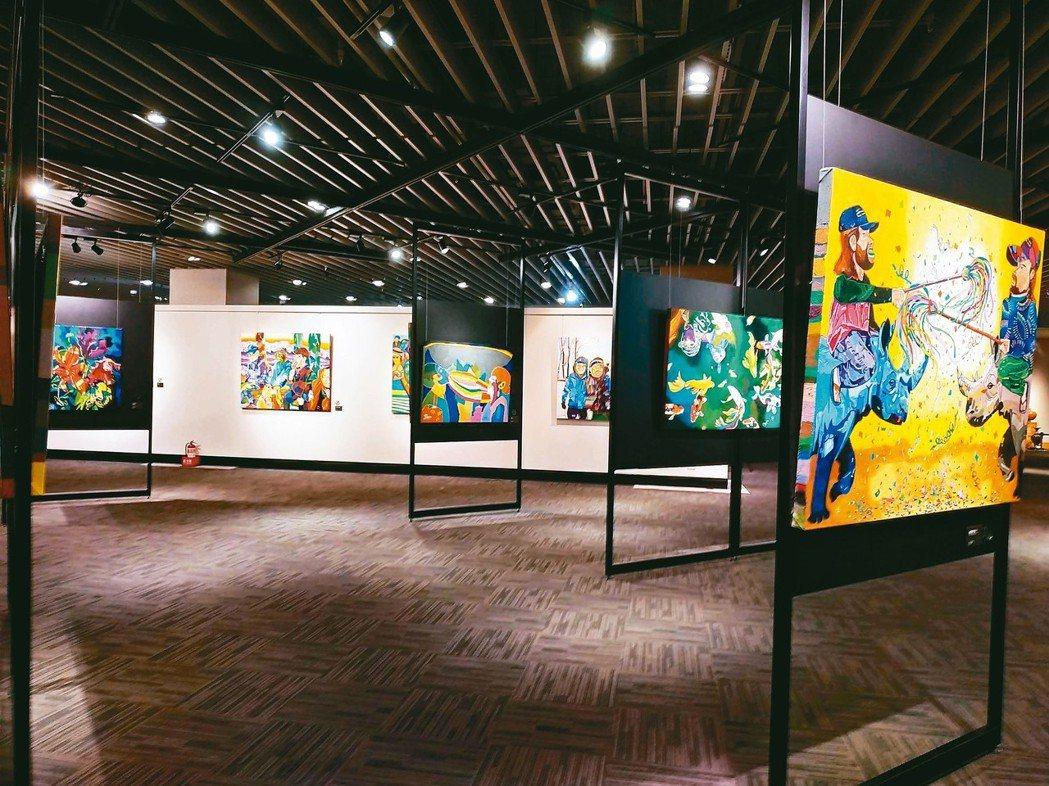 昇恆昌藝廊展出「奇幻樂園11弄1號-葉銘創作個展」。 圖/何秀玲