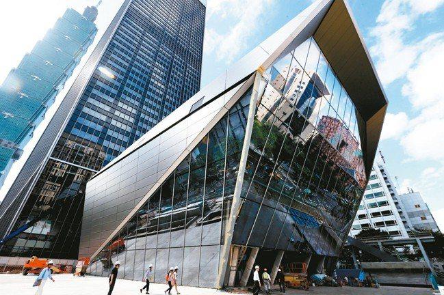 台北南山廣場成為台北市辦公大樓新地標。 報系資料照