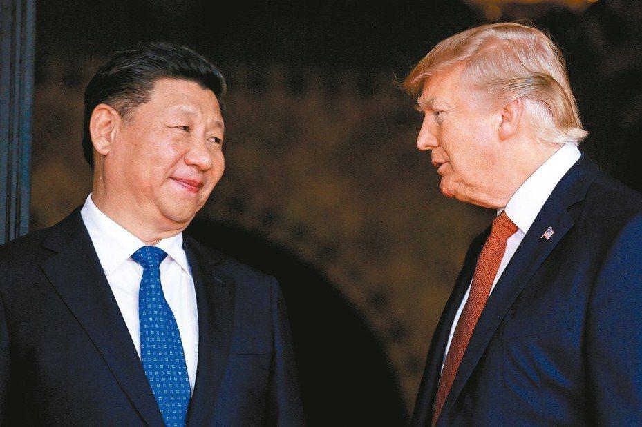 中國大陸領導人習近平及美國總統川普。 路透