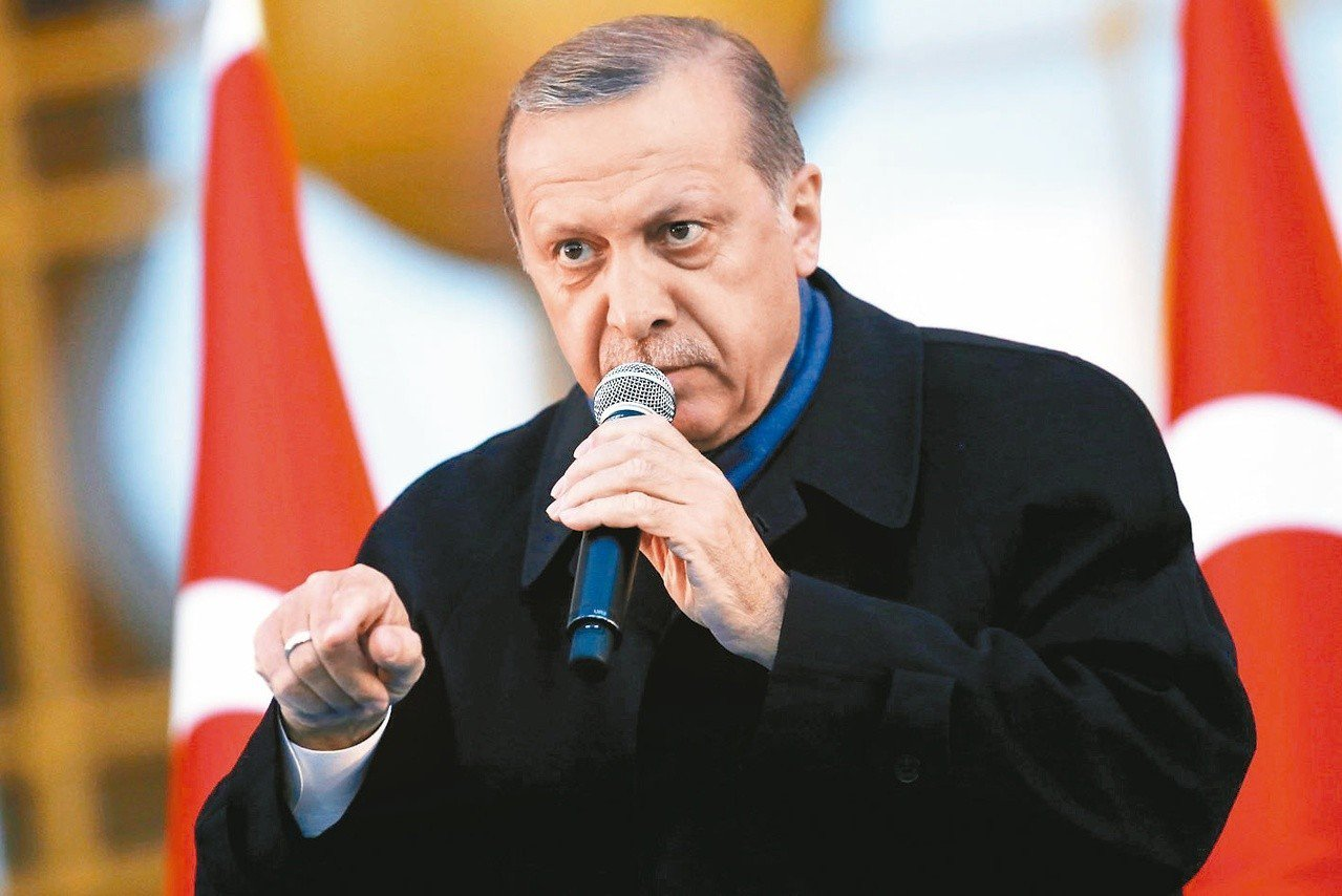 土耳其總統艾爾段。歐新社