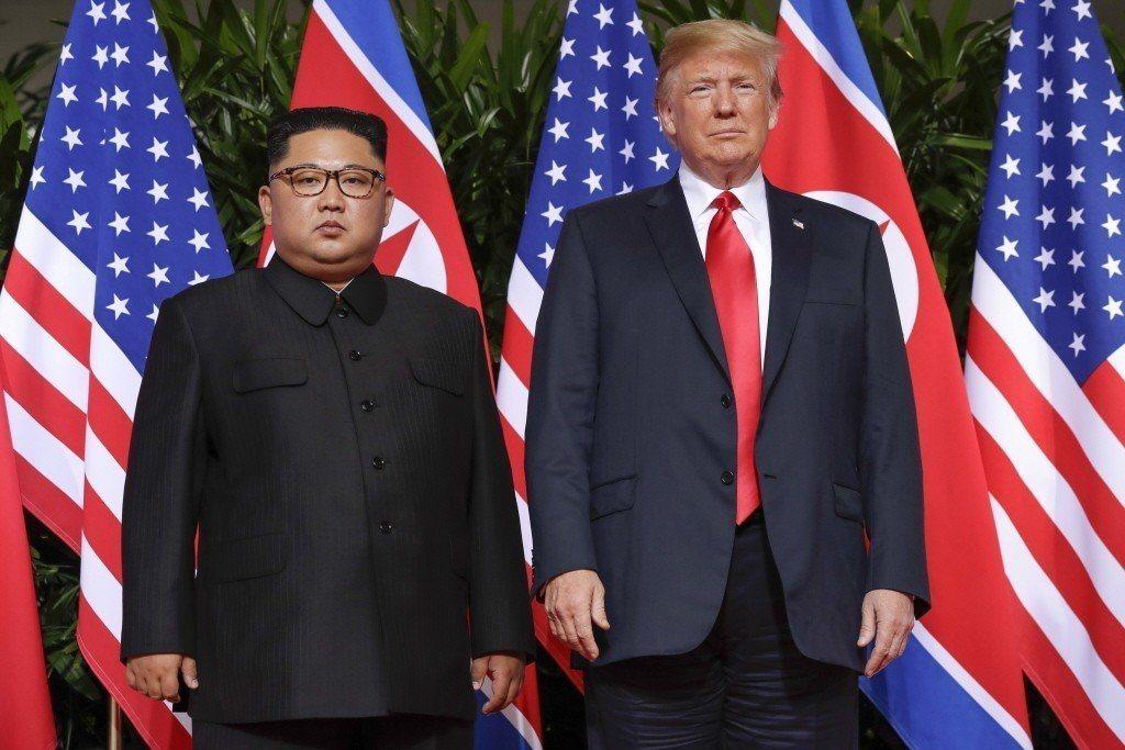 去年川金會美國總統川普與北韓領導人金正恩會面。美聯社