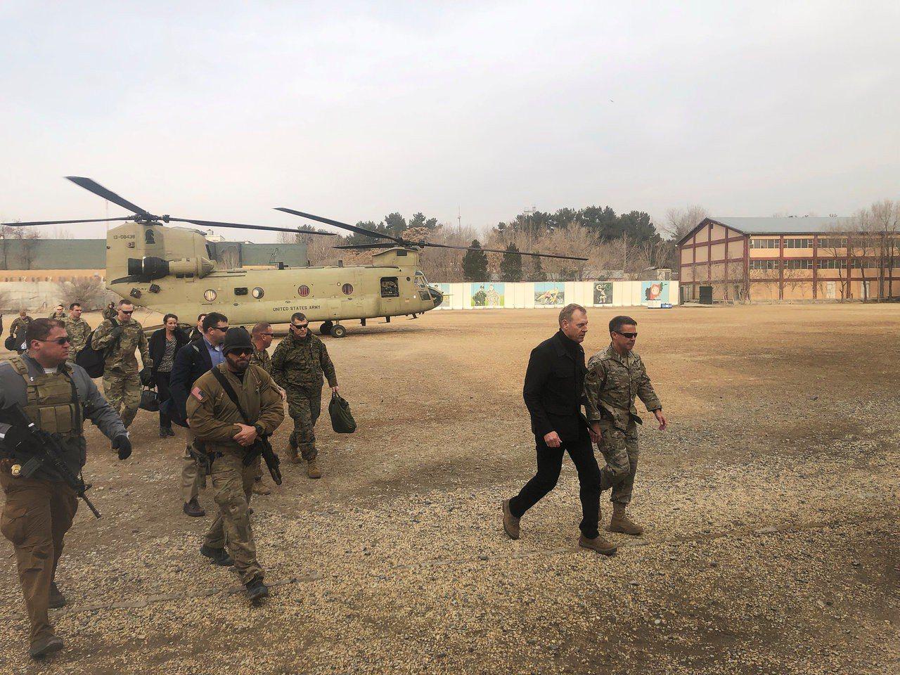 >美國代理國防部長夏納翰(Patrick Shanahan)今天訪問阿富汗。路透...