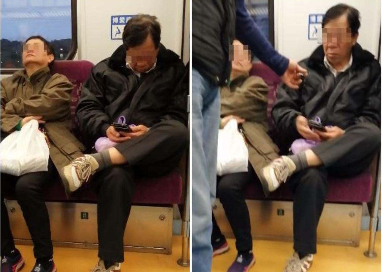 阿伯在火車上公然看A片還擴音放送,所幸男乘客即時遞上耳機,才解決了這起尷尬事件。...