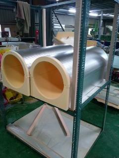 酚樹脂保溫管已經廣泛運用於捷運,機場等公共工程。 圖/暉展