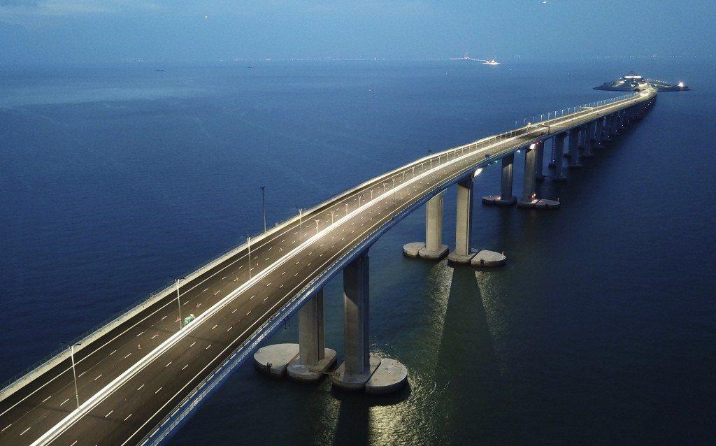 港珠澳大橋。 中新社