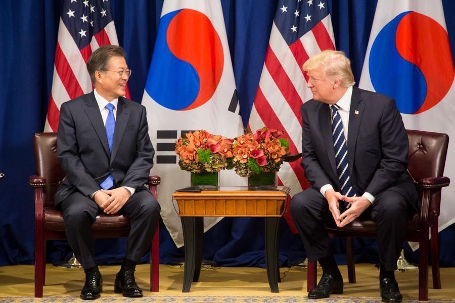 美國與南韓費盡千辛萬苦後,終於在雙方各退一步後簽署新駐軍協定,但價碼仍低於川普原...