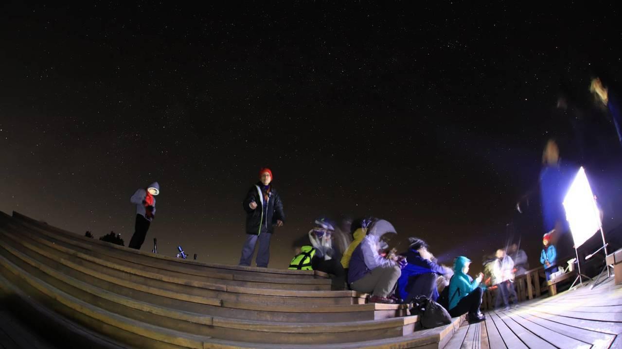 夜間觀星活動。圖/嘉義林區管理處提供