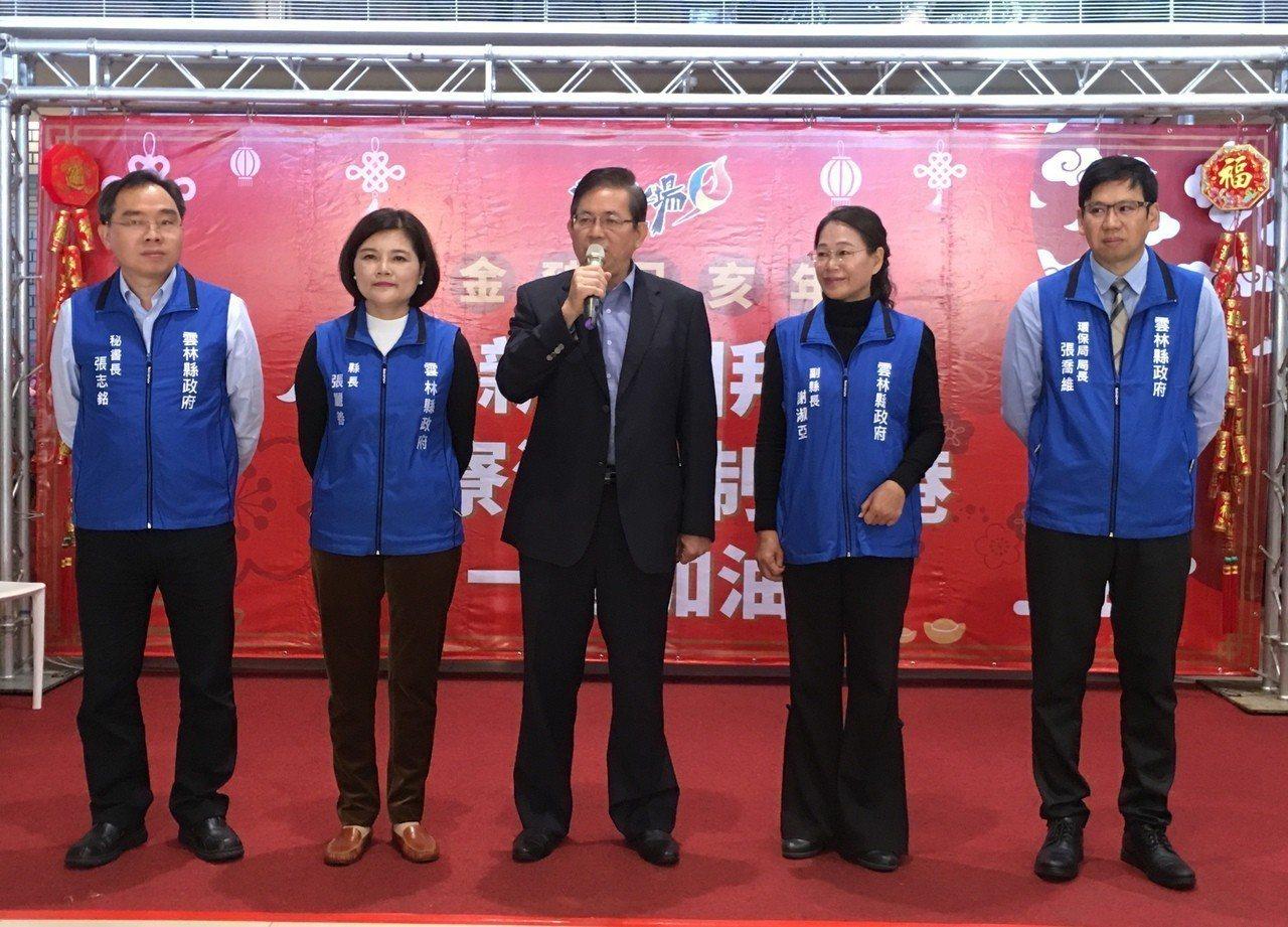 雲林縣長張麗善(左二)今天率領縣府團隊新春團拜。記者陳雅玲/攝影