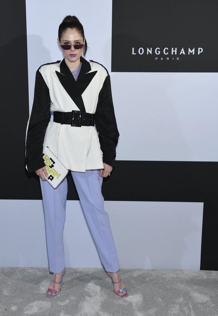 加拿大超模Coco Rocha。圖/Longchamp提供