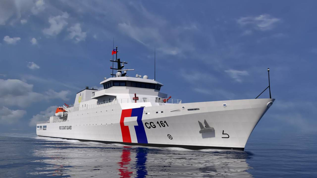 4000噸級巡防艦模擬圖。記者張媛榆/翻攝