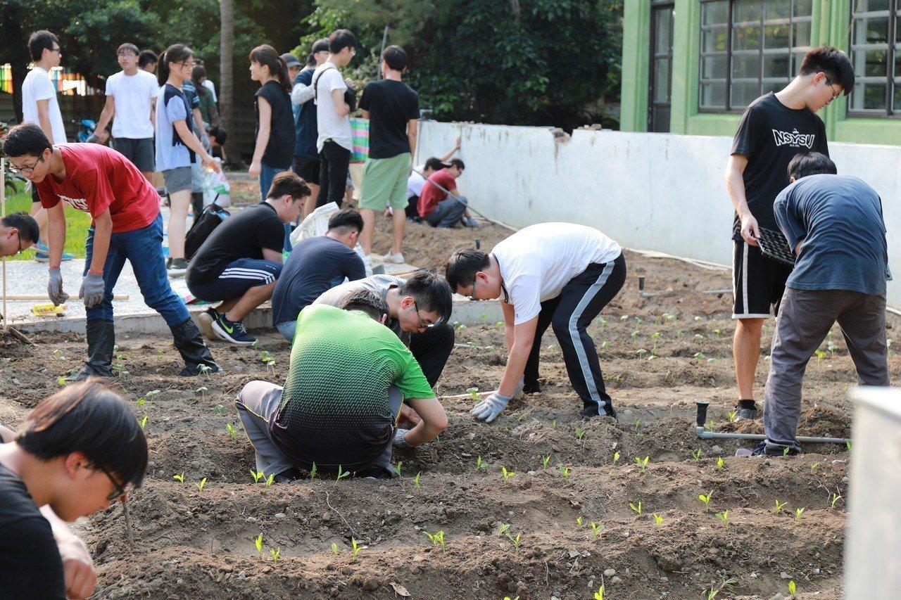 中山大學首開食農教育課程,無種菜經驗的師生當起小農親自整地、種菜,從農事體驗及種...