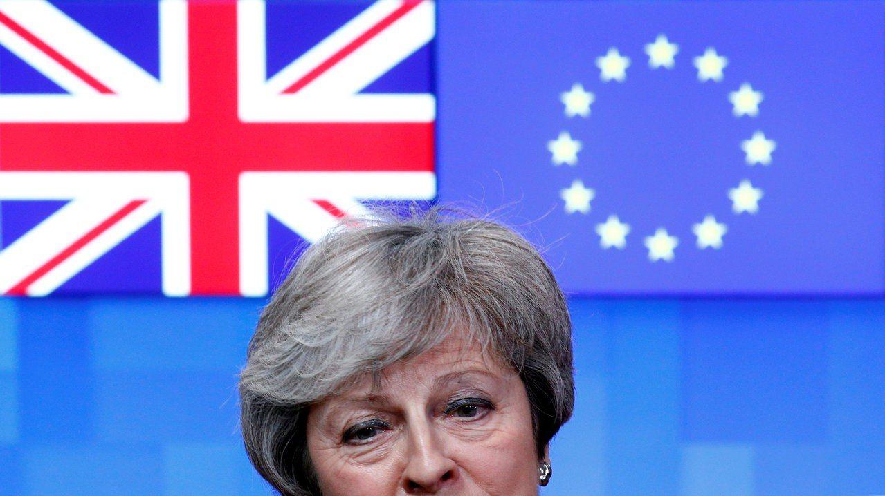 英國總理梅伊。路透社