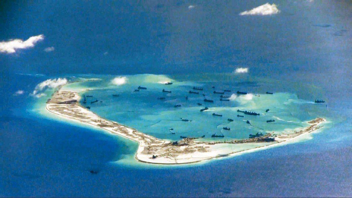 南海美濟礁。 路透資料照
