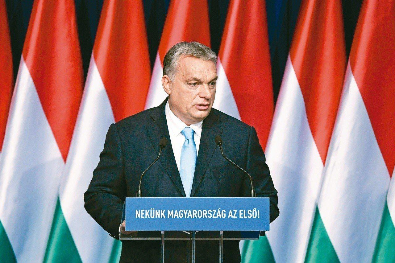 匈牙利總理奧班十日在年度國情咨文演說中祭出鼓勵生育政策。(美聯社)