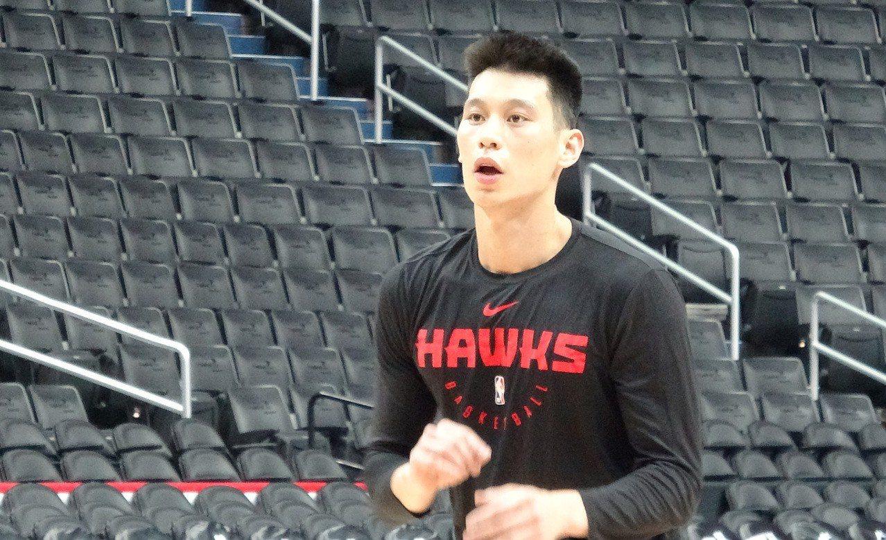效力亞特蘭大老鷹隊的台裔美籍球員林書豪。 中央社