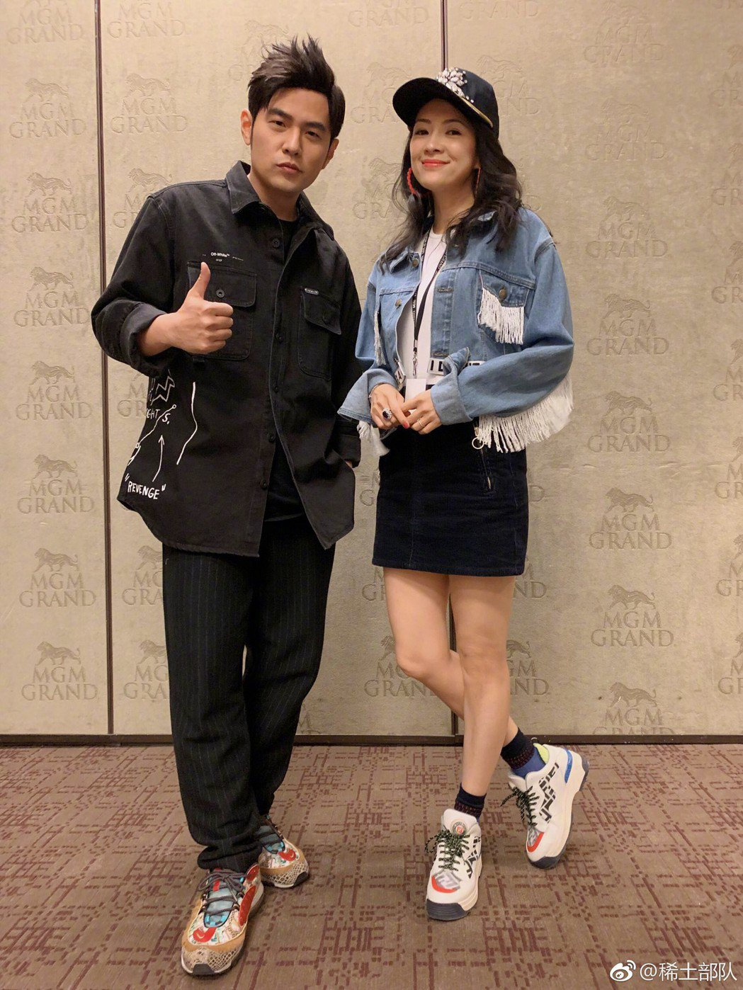 章子怡欣賞周杰倫在拉斯維加斯演唱會。 圖/擷自章子怡微博