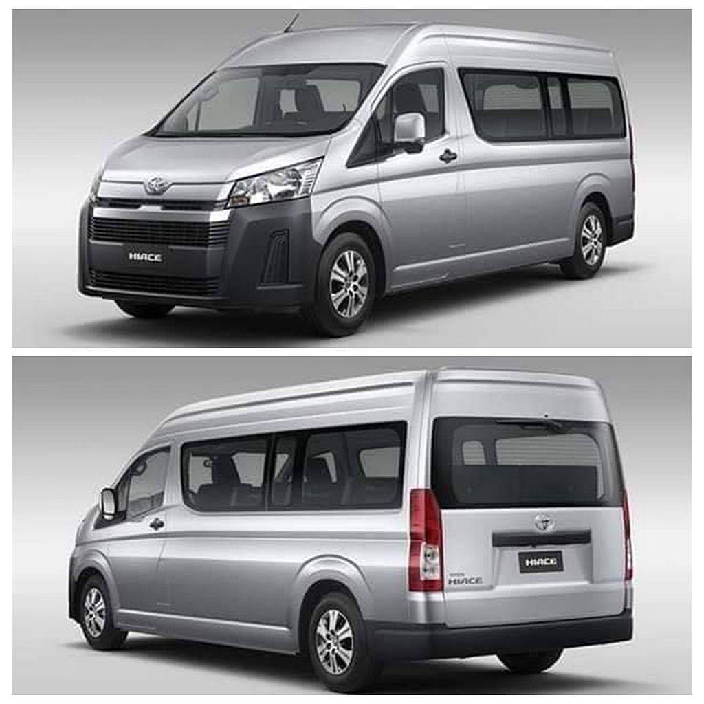 新世代Toyota Hiace採用更安全的雙廂車體設計,且車頭/車尾造型與和現行...