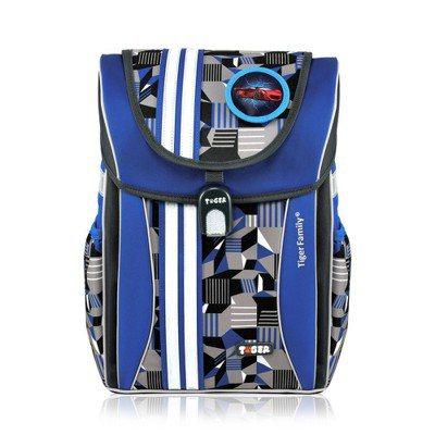 Tiger_Family學院風超輕量護脊書包灰藍幾何 Yahoo提供