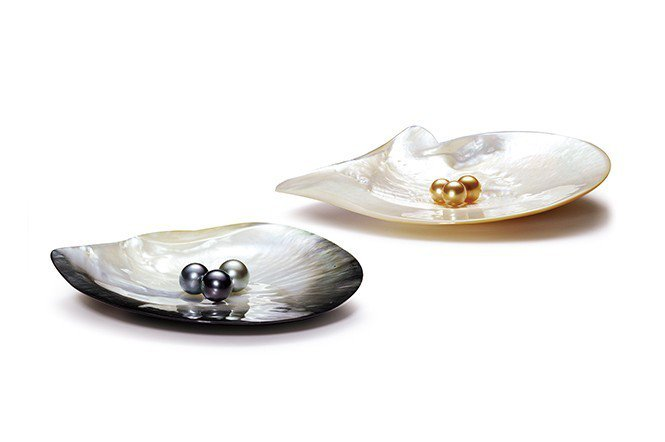南洋珍珠有許多種顏色,相當美麗。(大喨真珠提供)