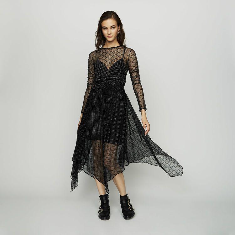 朴敏英款maje手工刺繡薄紗洋裝已售罄。圖/取自maje官網