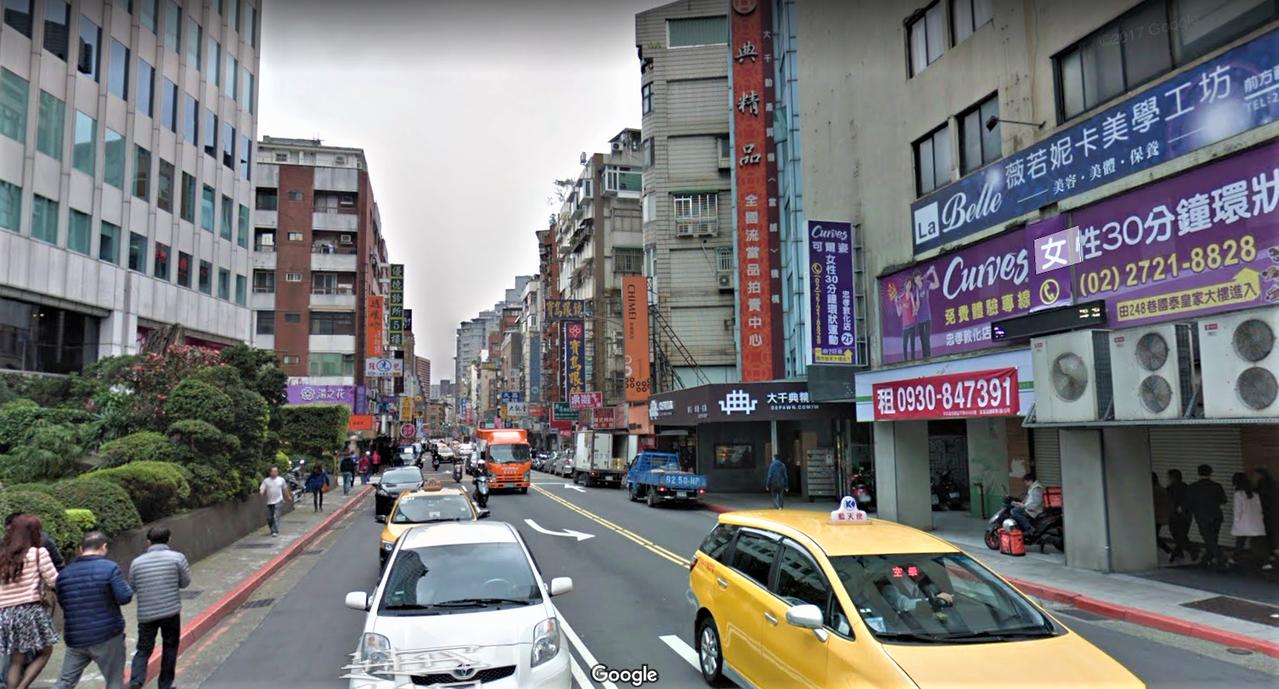延吉街。圖/取自Google Map