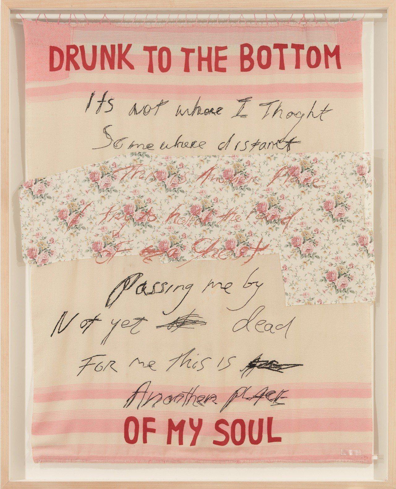 焦點拍品之一是翠西艾敏的《醉到靈魂深處》(2002 年作)。圖/佳士得提供