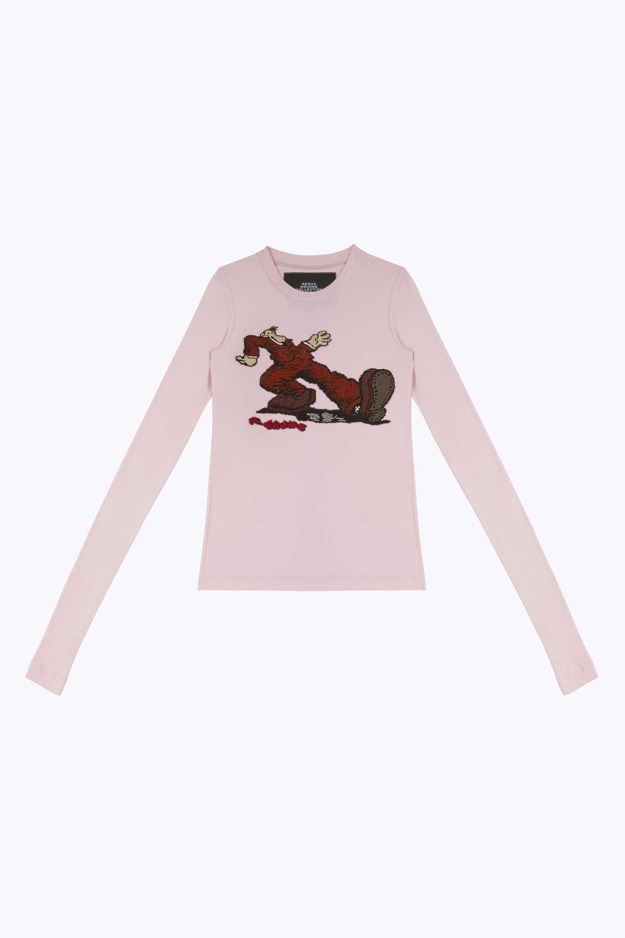 大腳紳士刺繡粉色上衣,22,900元。圖/Marc Jacobs提供