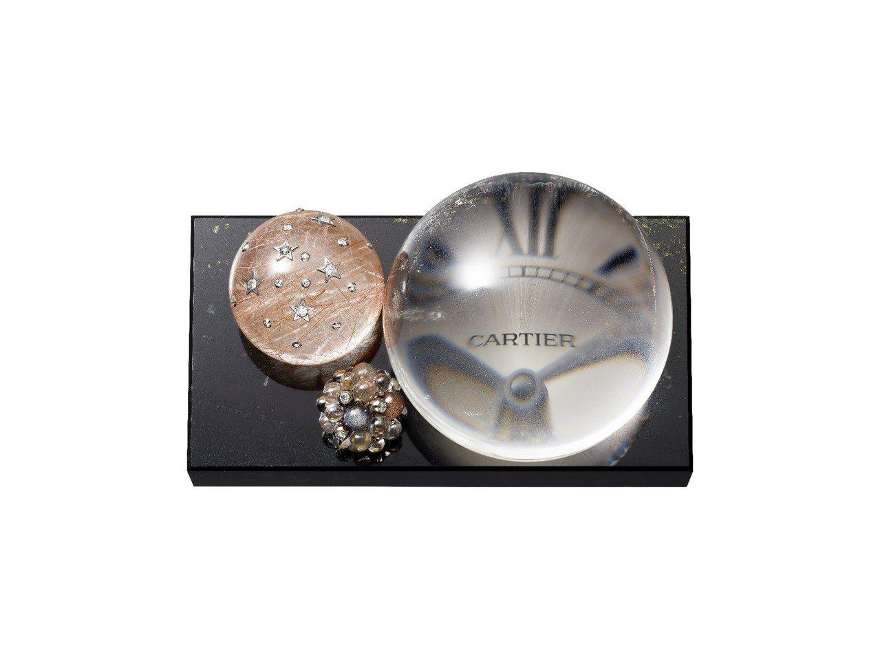 LES GALAXIES DE CARTIER 系列座鐘,白K金鑲嵌鑽石、天然水...