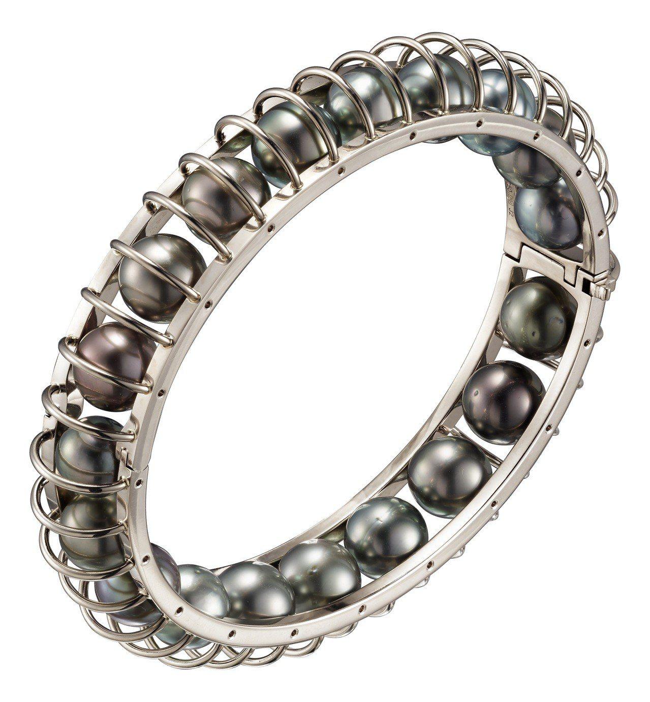LES GALAXIES DE CARTIER 系列 LUNES 手環,白K金鑲...
