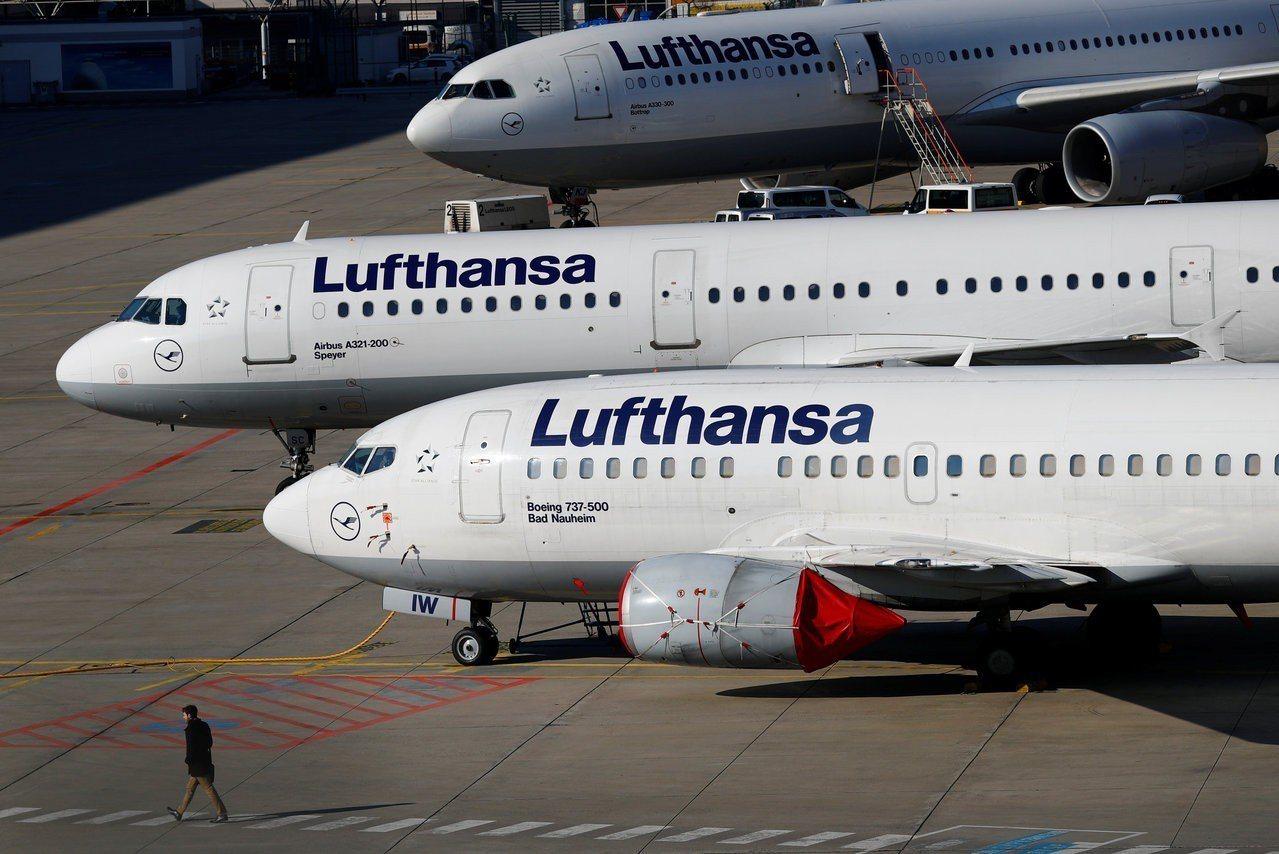 德國漢莎航空飛機。路透