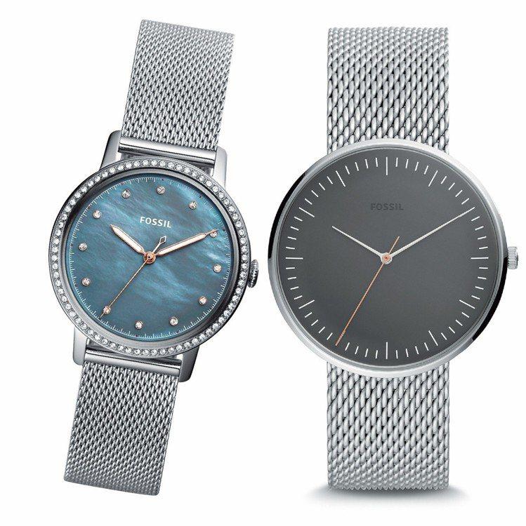 統一時代台北店FOSSIL素面情侶對錶,原價5,600元/支,特價4,300元/...
