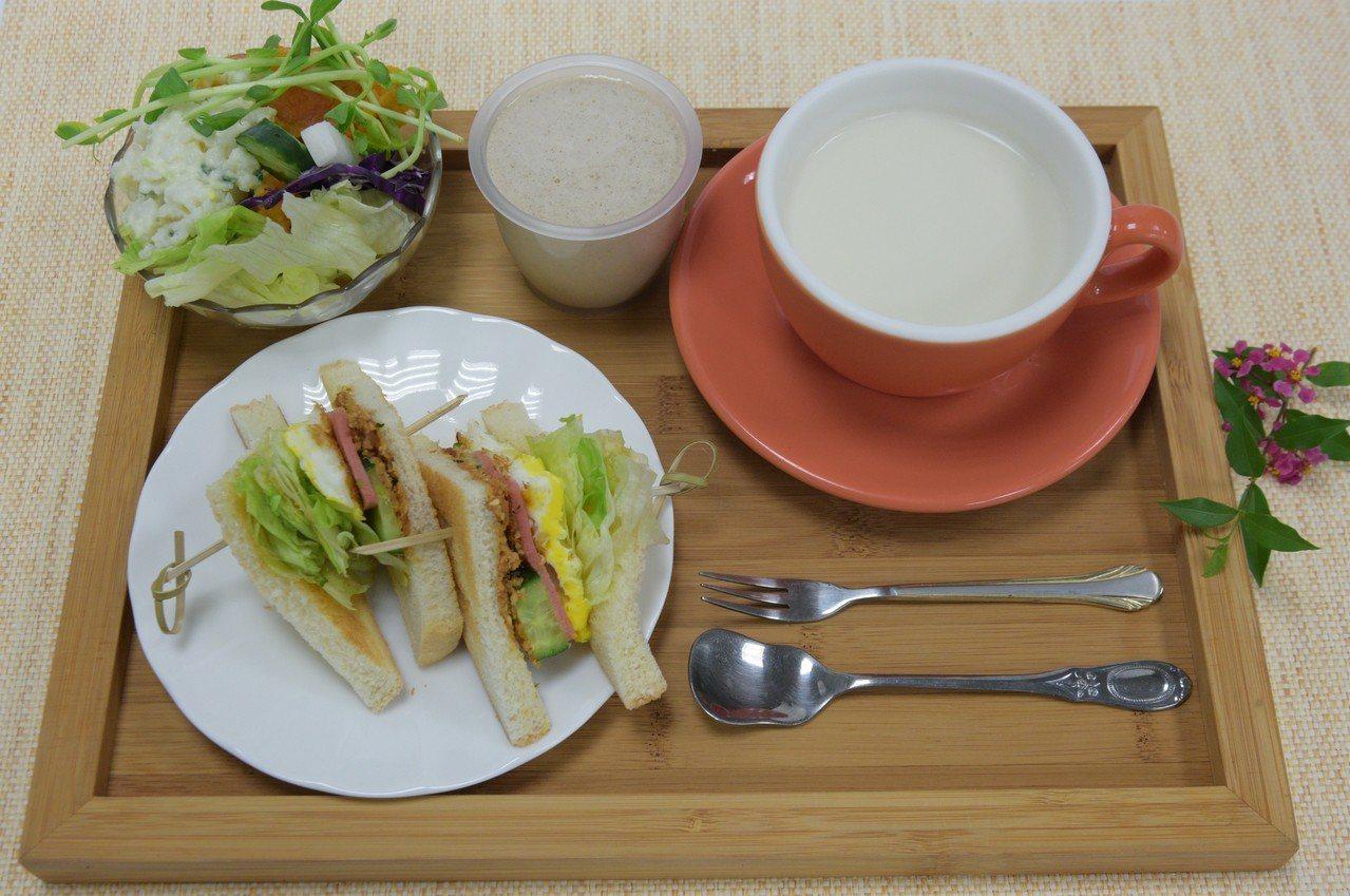 營養師提醒,想減重一定要吃早餐。圖/大林慈濟醫院提供