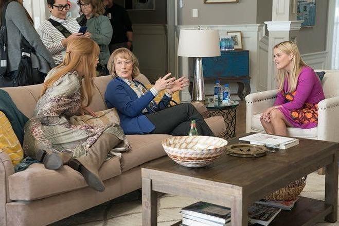「美麗心計」第2季瑞絲薇絲朋(右起)、梅莉史翠普、妮可基嫚有不少精彩對手戲。圖/...