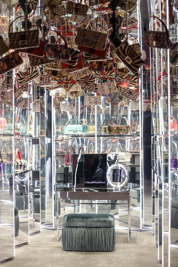 FENDI在紐約打造的#BaguetteFriendsForever夢幻房間。圖...